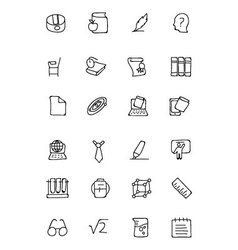 Education Hand Drawn Doodle Icons 3 vector