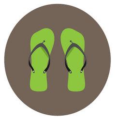 Flip flops icon flat vector image