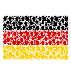 German flag collage of index finger icons vector