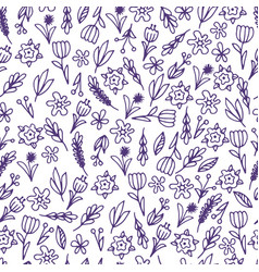 hand drawn floral seamless patterns ornaments vector image
