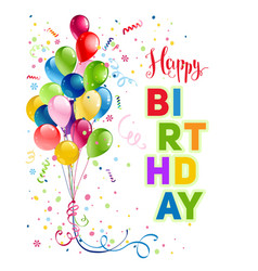 Happy birthday holiday card vector