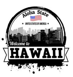 Hawaii stamp vector