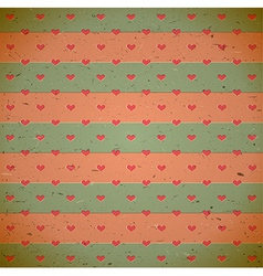 Heart pattern on the old cardboard vector image