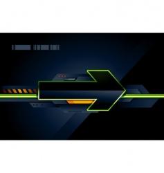 High tech arrow vector