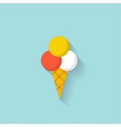 Ice Cream flat web icon vector image