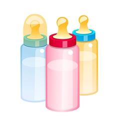 Icon baby bottle vector