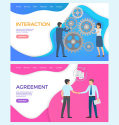 interaction in team social networking managers vector image