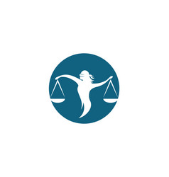 lawyer logo template icon vector image
