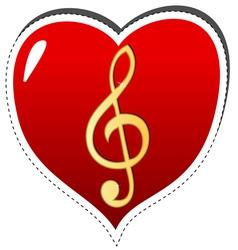 Love music symbol vector image