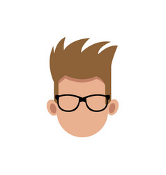 Male head faceless hair style image vector