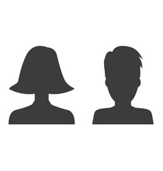 man and woman profile icon design vector image