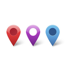 Map pin gps pointer markers for destination vector