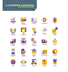 Modern material flat design icons - e-commerce vector