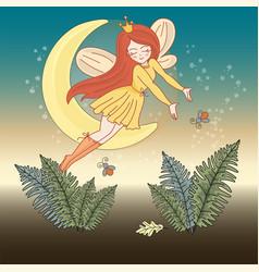 moon fairy wedding set vector image