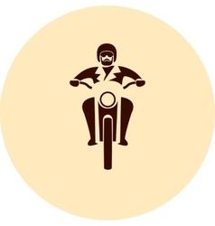 Motorcycle rider vector