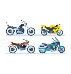 Motorcycles sports tourist classic off-road vector