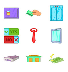 New plan icons set cartoon style vector
