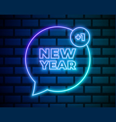 new year neon text year design template vector image