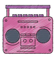 Old music player icon vector