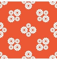 Orange cogs pattern vector
