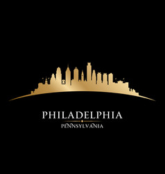 Philadelphia pennsylvania city silhouette black vector
