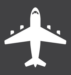 plane glyph icon transport and air vehicle vector image