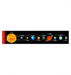 Planet of solar system vector
