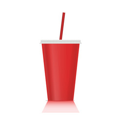 plastic fastfood cup for beverages plastic cup vector image