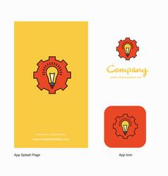 power setting company logo app icon and splash vector image
