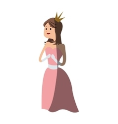 princess cartoon icon vector image