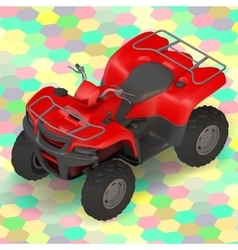 Quad bike ATV isometric vector