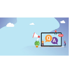 Question and ask or qa for customer support vector