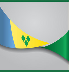 Saint vincent and the grenadines wavy flag vector