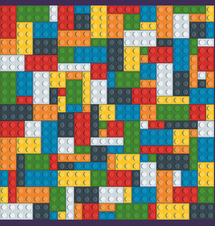 seamless graphic seven color bright bricks toy vector image