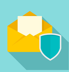 secured mail icon flat style vector image