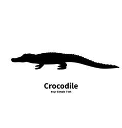 silhouette of crocodile vector image