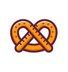 single german pretzel icon vector image