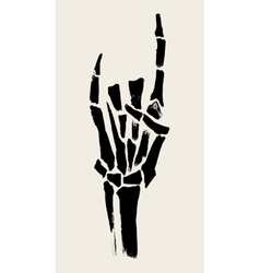 Skeleton hands vector image