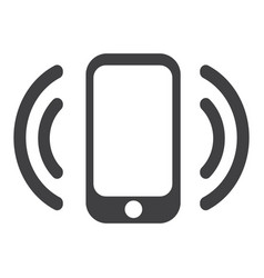 Smartphone with wi-fi icon vector