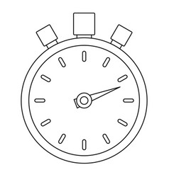 stop stopwatch icon outline style vector image