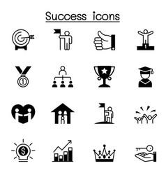Success icon set graphic design vector