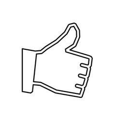 thumb up like vector image