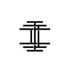 triple i monogram iii letter hipster lettermark vector image