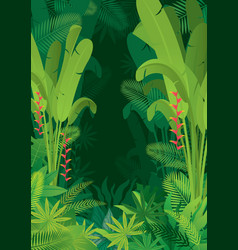 Tropical jungle dark background vector