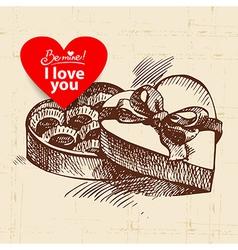 Valentines Day vintage background vector