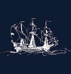 Vintage boat design vector image