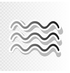 waves sign new year blackish vector image