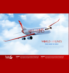 World airlines advertising composition vector