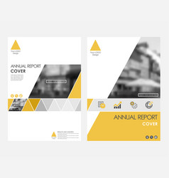 Yellow infographic cover design template vector