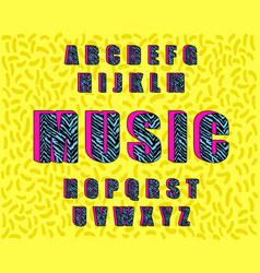 zebra vintage alphabet 80 s vector image